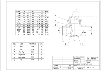 PDF for Swing Pattern Check Valve