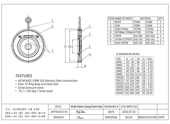 PDF for Wafer Pattern Swing Check Valve