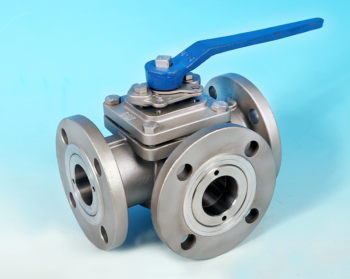 3-Way Flanged ANSI 150lb Full Bore Ball Valve