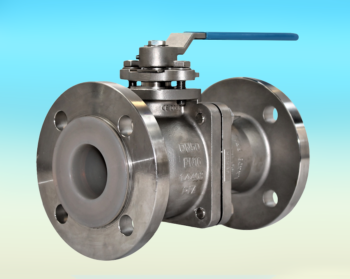 Stainless Steel PFA Lined 2-Pce Full Bore Flanged PN16 Ball Valve