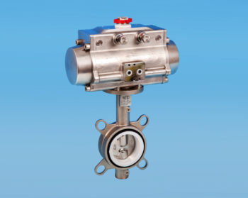 Stainless Steel Pneumatic Actuators Wafer Pattern Actuated Butterfly Valve PN10/16 and ANSI 150lb Flange Fitment