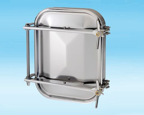 1500 Stainless Steel Rectangular Pressure Manway 304L 432 × 555mm