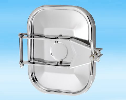 160 Stainless Steel Rectangular Pressure Manway 304L 332 × 440mm
