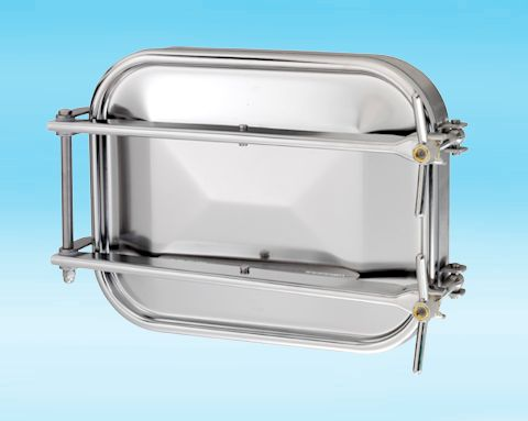1600 Stainless Steel Rectangular Pressure Manway 304L 555 × 432mm