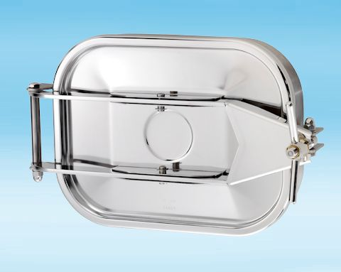 165 Stainless Steel Rectangular Pressure Manway 304L 440 × 332mm