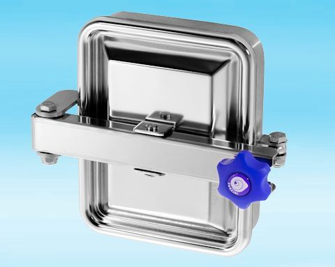 285/B Stainless Steel Rectangular Pressure Manway 316L 185 × 235mm
