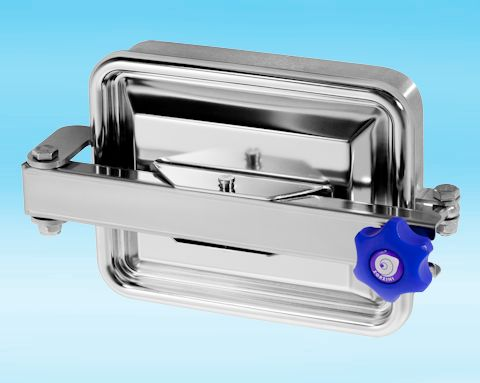 295/B Stainless Steel Rectangular Pressure Manway 316L 235 × 185mm