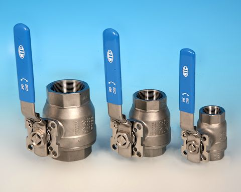 stainless steel 2-Pce Full Bore Direct Mount Ball Valve