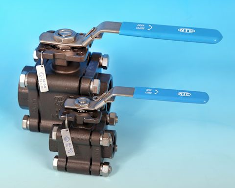 3-Pce Full Bore Heavy Duty Carbon Steel Direct Mount Ball Valve